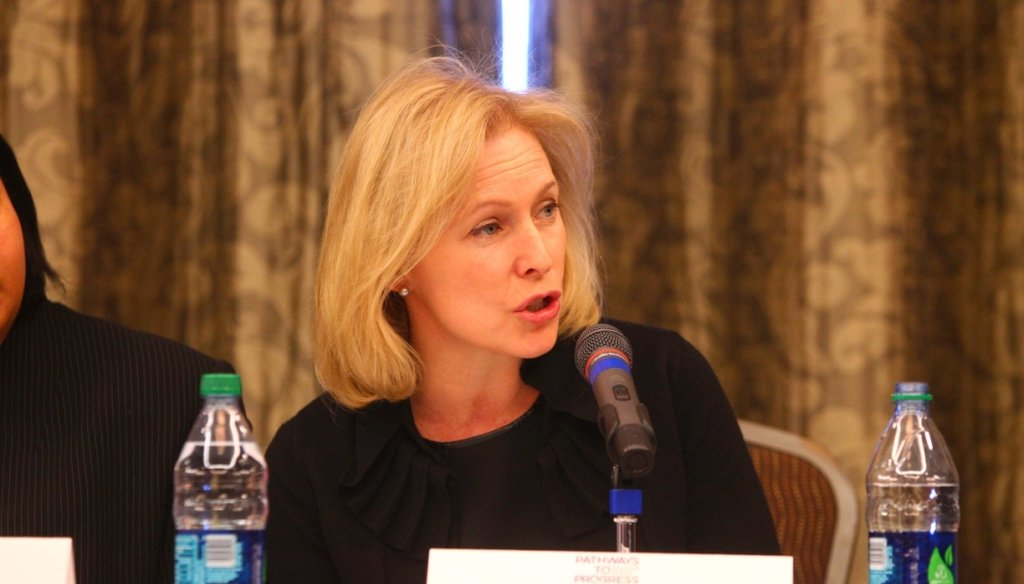Sen. Kirsten Gillibrand has been under fire for reversing her position on a bill to penalize those who boycott Israel. (John Hickey/Buffalo News)