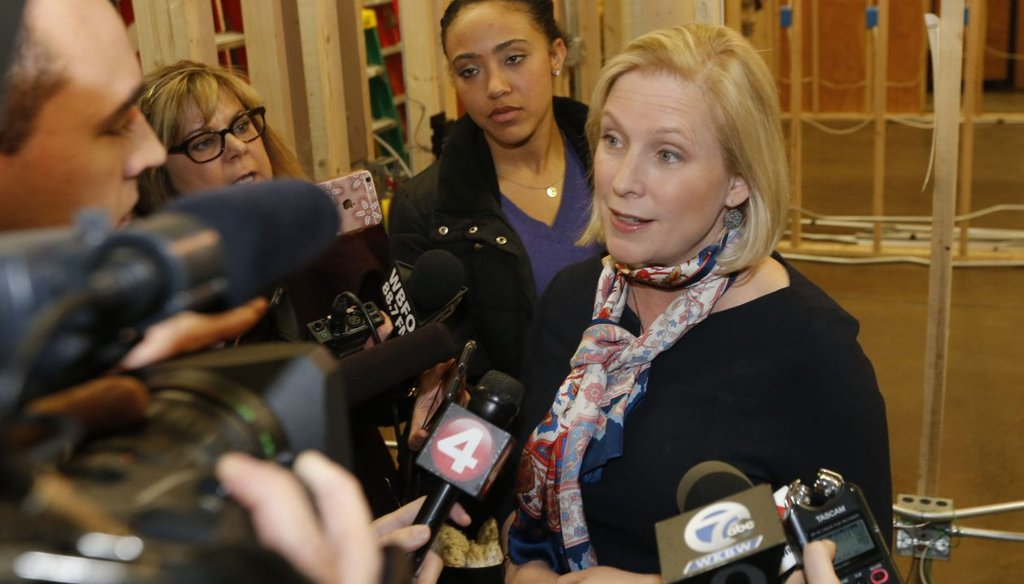 Sen. Kirsten Gillibrand claimed the Republican tax plan will raise middle class taxes. (Robert Kirkham/Buffalo News)