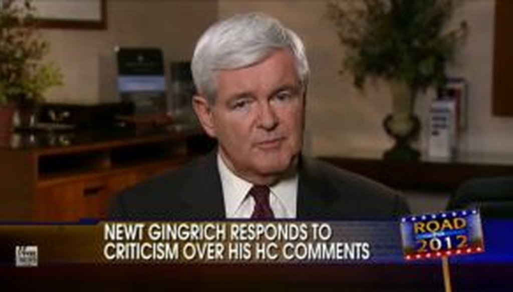 Republican presidential candidate Newt Gingrich went on Greta Van Susteren's Fox News show to clarify his remarks about the budget proposed by Rep. Paul Ryan, R-Wis. Did his comments add up to a Full Flop?