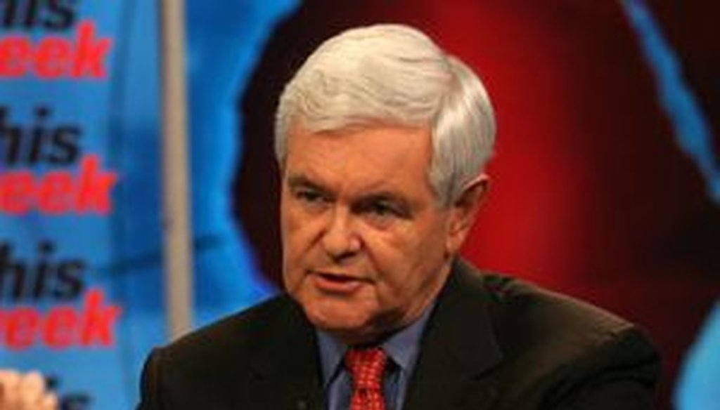 """Potential GOP presidential candidate Newt Gingrich said on ABC's """"This Week"""" that the Obama administration had cut democracy-promotion funding in Egypt."""