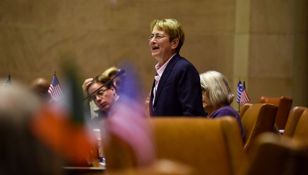 Assemblymember Deborah Glick speaks in the New York State Assembly. (Courtesy: Assembly Majority Facebook Page)