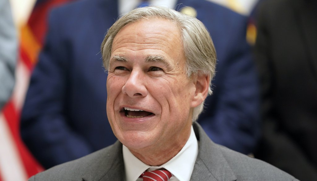 Texas Gov Greg Abbott speaks before signing Senate Bill 1, also known as the election integrity bill, into law in Tyler, Texas, Tuesday, Sept. 7, 2021. (AP)