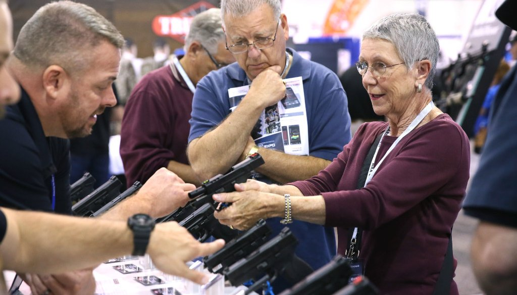 NRA Carry Guard Expo was held in Milwaukee in August 2017. (Michael Sears/Milwaukee Journal Sentinel)