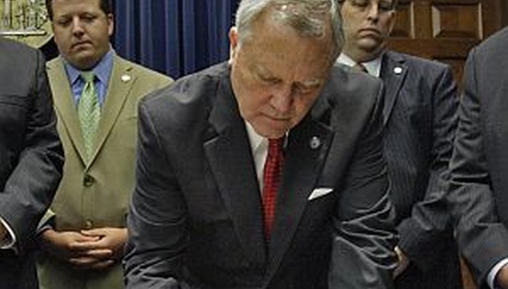 """The Truth-O-Meter gave Gov. Nathan Deal a """"Promise Kept"""" when he signed an immigration crackdown bill into law"""