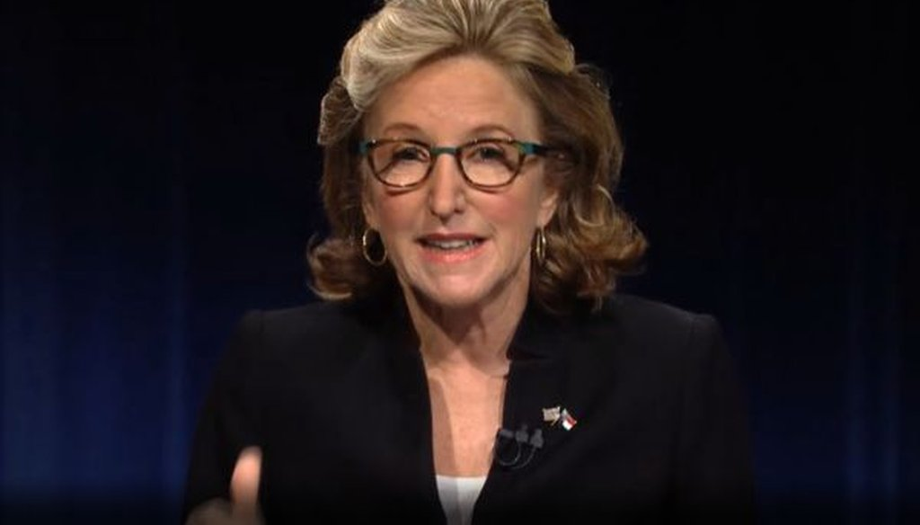 North Carolina Sen. Kay Hagan debated her Republican challenger, Thom Tillis, on Oct. 7, 2014.