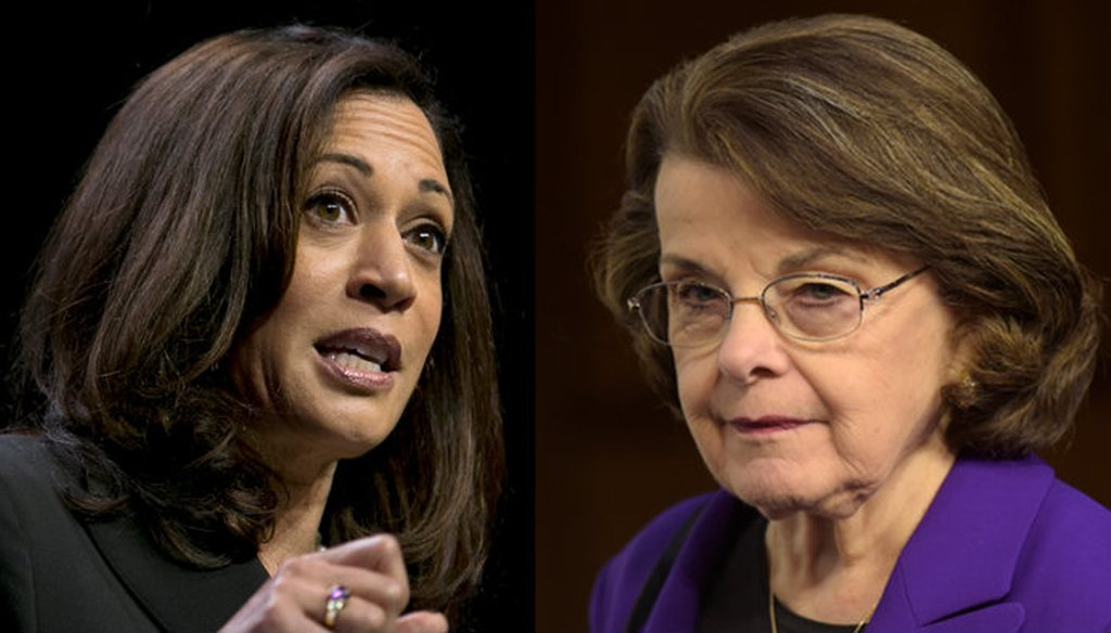 California Sens. Kamala Harris and Dianne Feinstein. Rich Pedroncelli / Associated Press