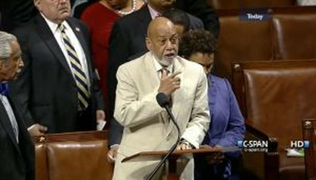 Rep. Alcee Hastings, D-Fla., and other members protested Republican efforts to strip food stamp provisions from a farm bill that passed the House on July 11, 2013.