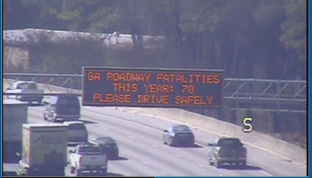 The state DOT recently alerted motorists to the number of fatalities on Georgia highways aleady this year