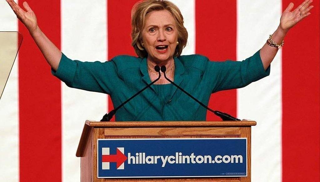 Hillary Clinton called for lifting the Cuba embargo in a speech in Miami July 31, 2015. (Miami Herald)