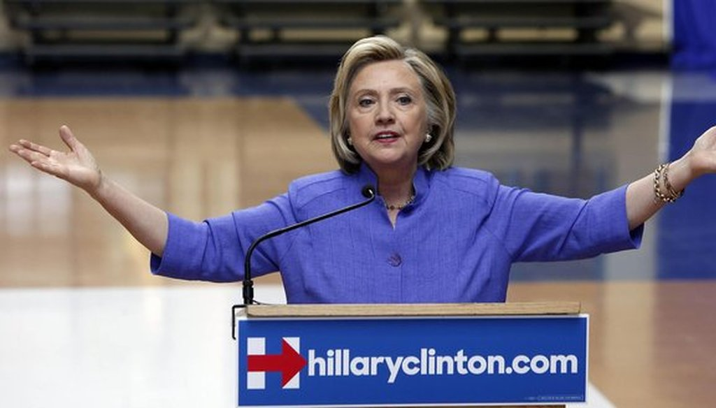 Hillary Clinton, shown here campaigning in New Hampshire in August 2015, is scheduled to make the first Wisconsin visit of her 2016 presidential campaign on Sept. 10, 2015. (AP photo)