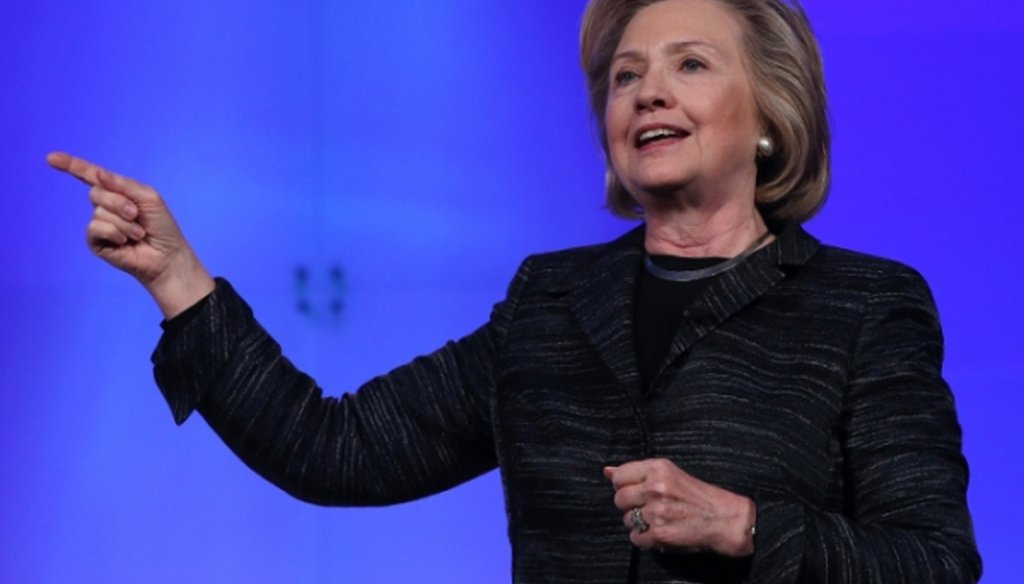 Hillary Clinton speaks at the Lead On Watermark Silicon Valley Conference for Women on Feb. 24, 2015.