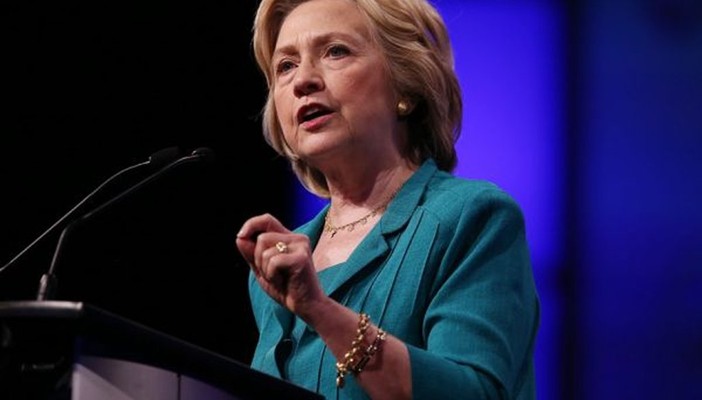 Democratic Presidential candidate Hillary Clinton addresses a National Urban League conference in Fort Lauderdale, Fla., on July 31, 2015. (Joe Raedle/Getty Images)