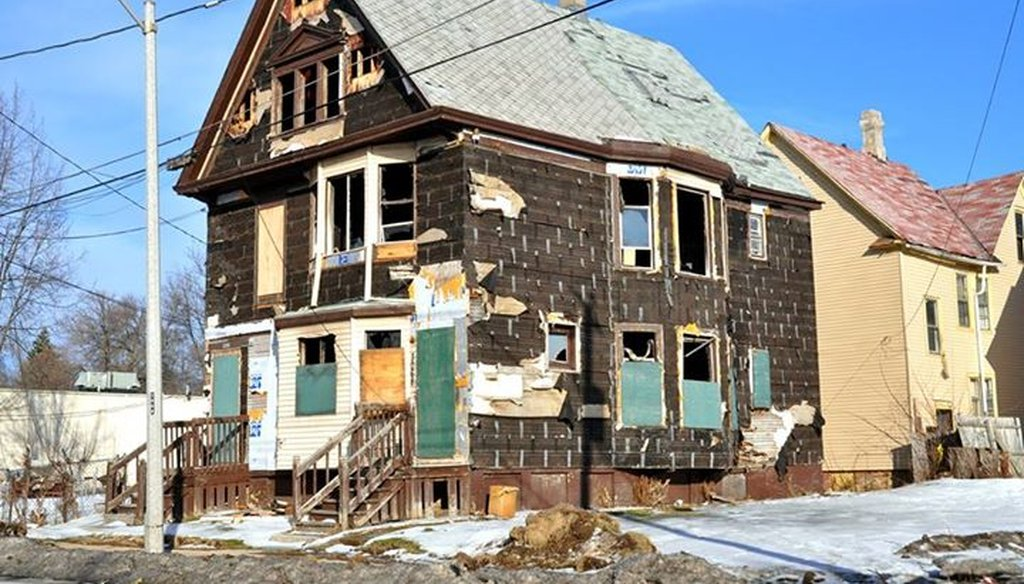 "Milwaukee alderman and mayoral candidate Bob Donovan posted this picture of a Milwaukee home on his campaign Facebook page, calling it ""the true picture of 'Milwaukee's Renaissance' after 12 years of Mayor Tom Barrett's leadership."" Was he right?"
