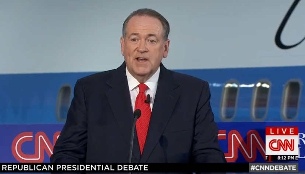 Republican presidential candidate Mike Huckabee argued that courts do more to protect religious liberties of Muslims than of Christians. (Screengrab)