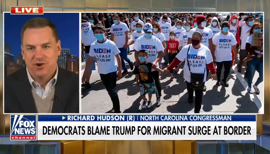 U.S. Rep. Richard Hudson (R-NC) appears in a Fox News segment posted online on March 15, 2021. (screenshot)