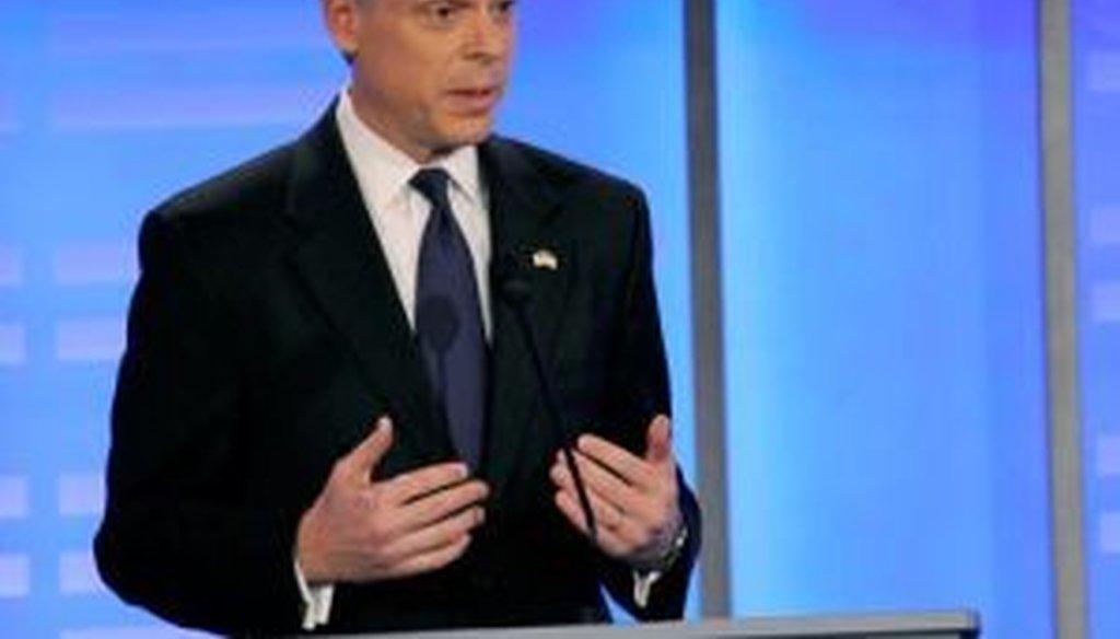 Former Utah Gov. Jon Huntsman participates in the Jan. 7, 2011, ABC News-WMUR-Yahoo! debate in Manchester, N.H.
