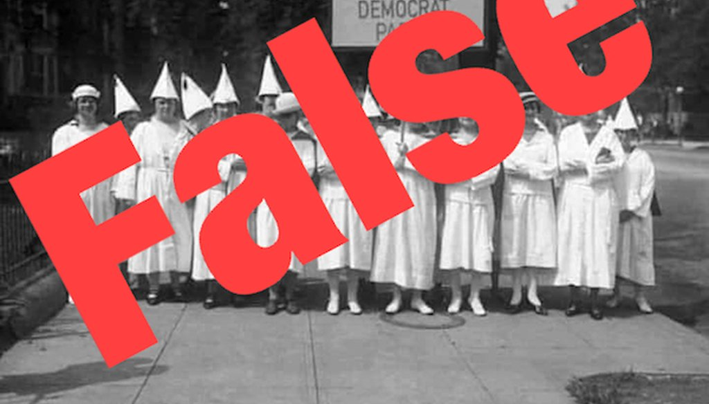 """This photo has been digitally altered from its original image, with the words on the sign being changed from """"Lancaster County"""" to """"Women of the Democrat Party."""" The altered image is viral on Facebook. We rate it False."""