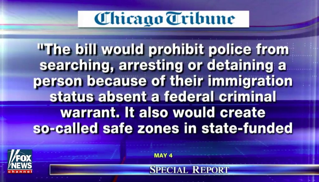 Fox News' use of an old version of an Illinois immigration bill on Aug. 11 ignited debate.