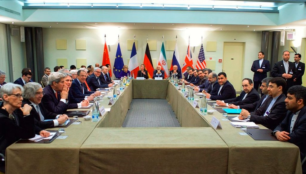Officials from the U.S., Europe and Iran negotiate a nuclear agreement in Switzerland in 2015. (U.S. Department of State)