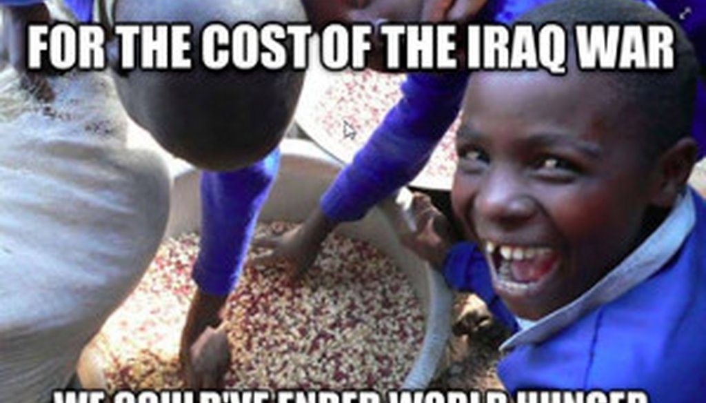 A meme that has been popping up on Facebook imagines a better way to spend Iraq War dollars.