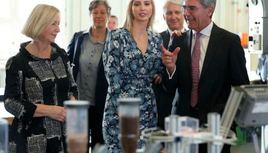 Ivanka Trump tours a Siemens training center in Berlin, Germany. (Getty Images)