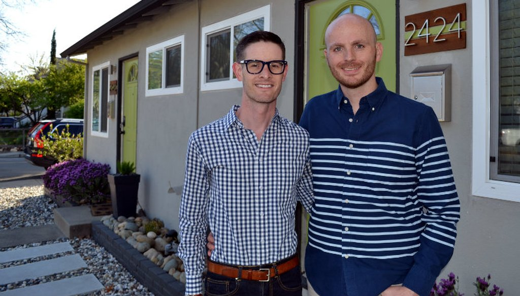 Jack and Joe Boniwell, right, faced hurdles as millennials entering Sacramento's housing market. Chris Nichols / PolitiFact California
