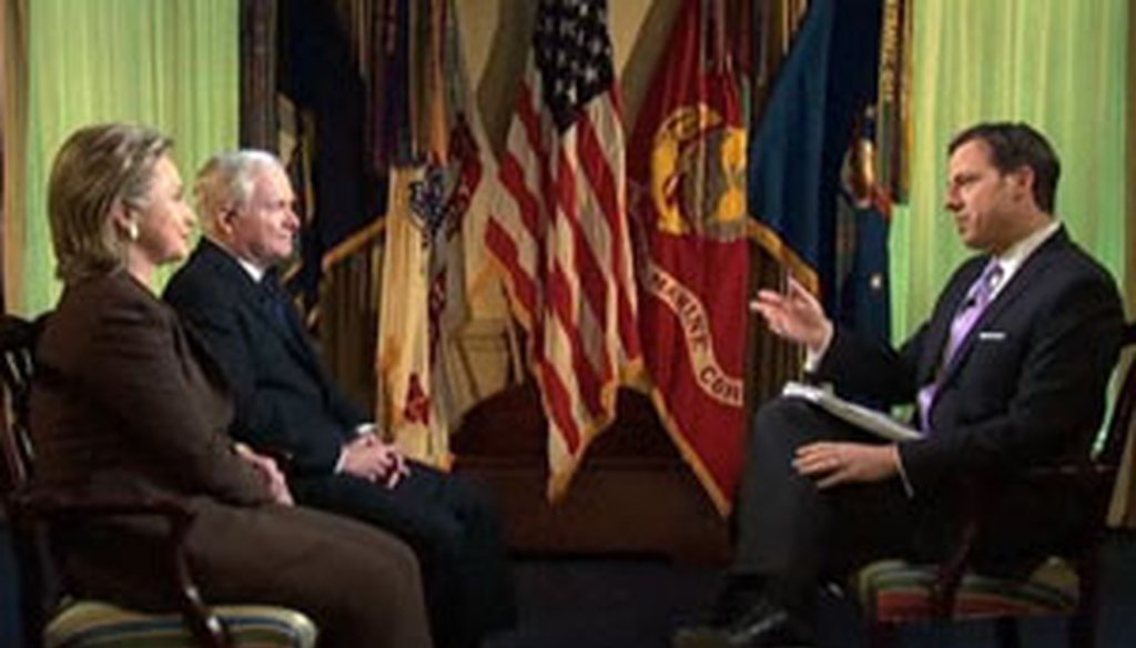 'This Week' host Jake Tapper interviewed Defense Secretary Robert Gates and Secretary of State Hillary Clinton.