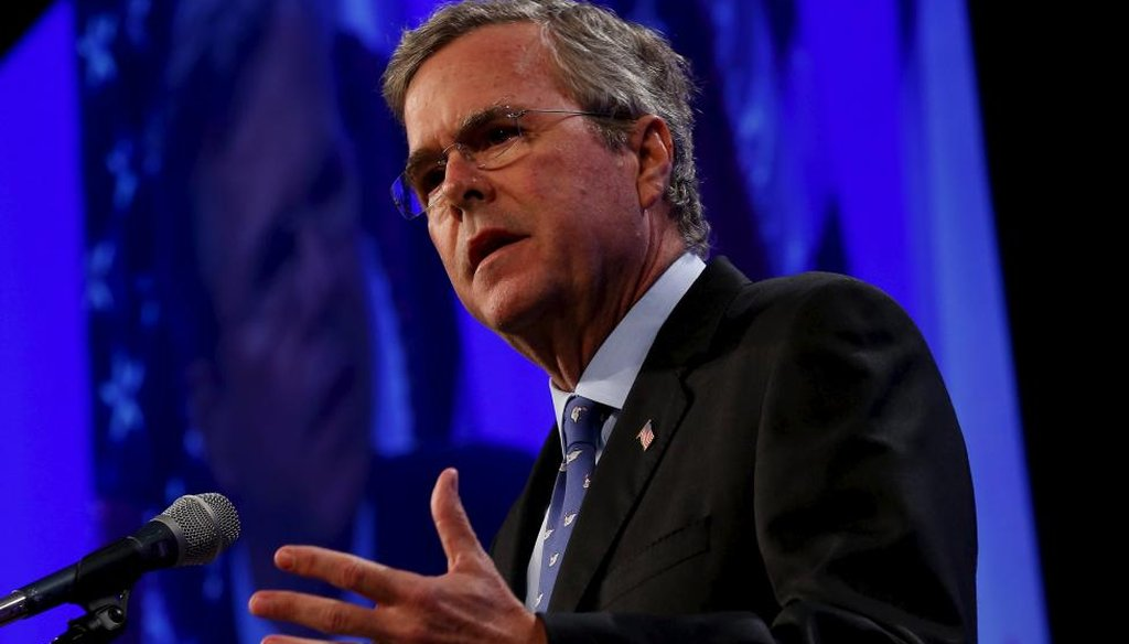 Former Gov. Jeb Bush speaks at Iowa GOP Lincoln Day Dinner May 16, 2015. (Reuters)