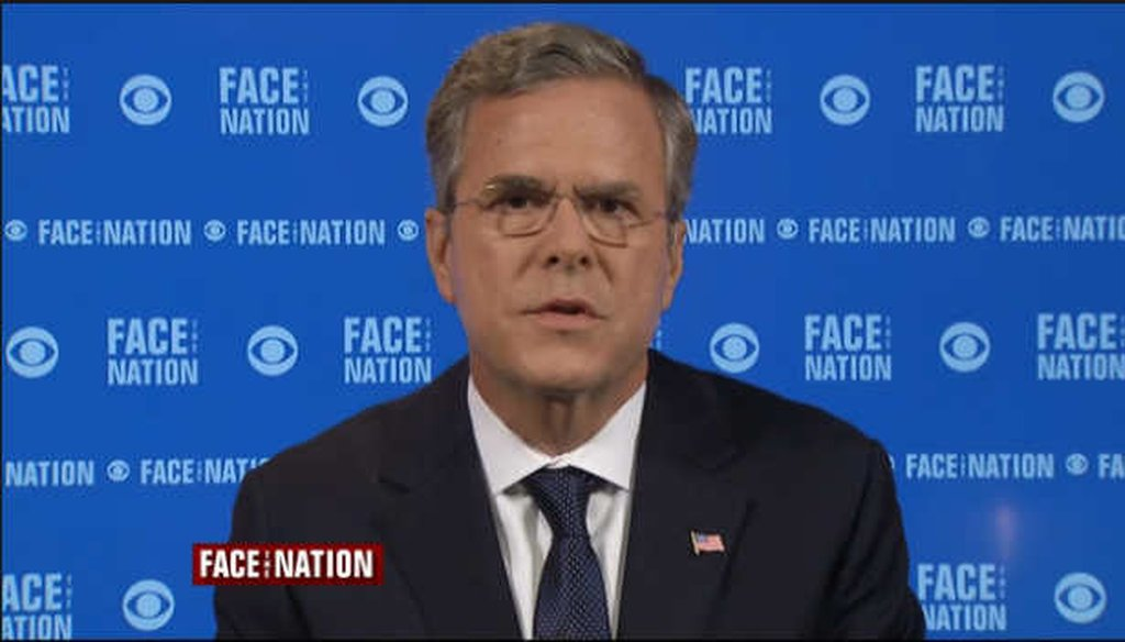 Republican presidential candidate Jeb Bush said Christian refugees in the Middle East should be given preference. (Screengrab)