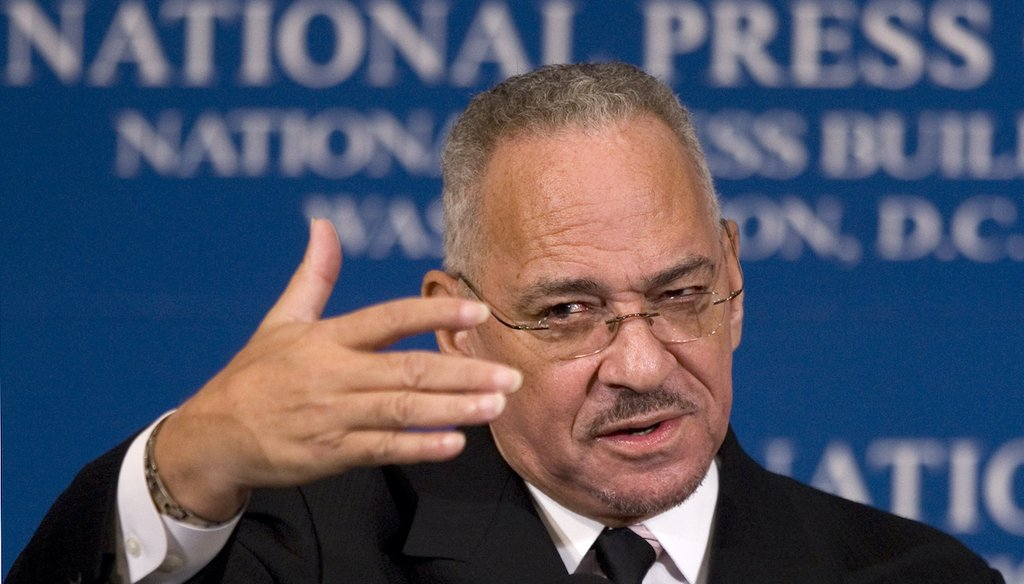 The Rev. Jeremiah Wright speaks at the National Press Club on April 28, 2008. (AP)