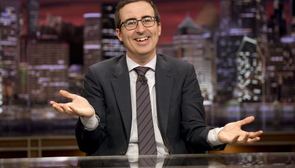 """John Oliver, formerly of """"The Daily Show with Jon Stewart,"""" hosts """"Last Week Tonight"""" on HBO. (AP photo)"""