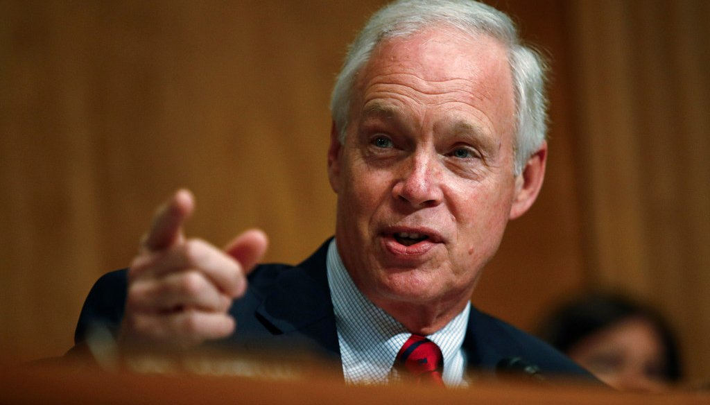 U.S. Sen. Ron Johnson, R-Wisconsin, says Obama-era changes that eliminated higher-fat milk options caused a drop in student milk consumption. AP Photo/Patrick Semansky)