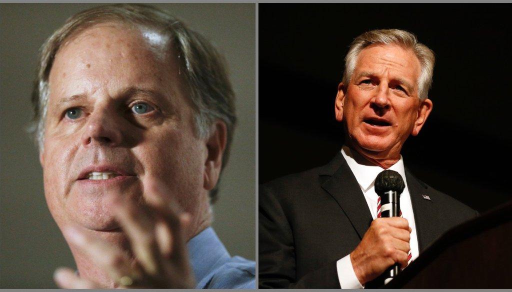 Alabama incumbent Democrat Sen. Doug Jones (left) faces a tough race against Republican Tommy Tuberville. (AP)