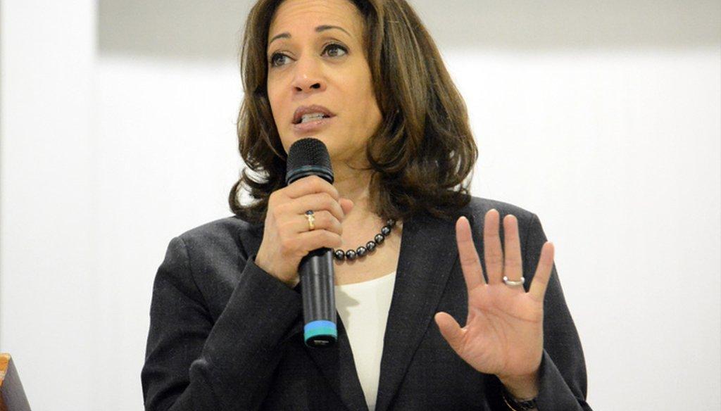 Sen. Kamala Harris, D-Calif., speaks during a campaign event in St. George, South Carolina March 9, 2019. (AP Photo/Meg Kinnard)