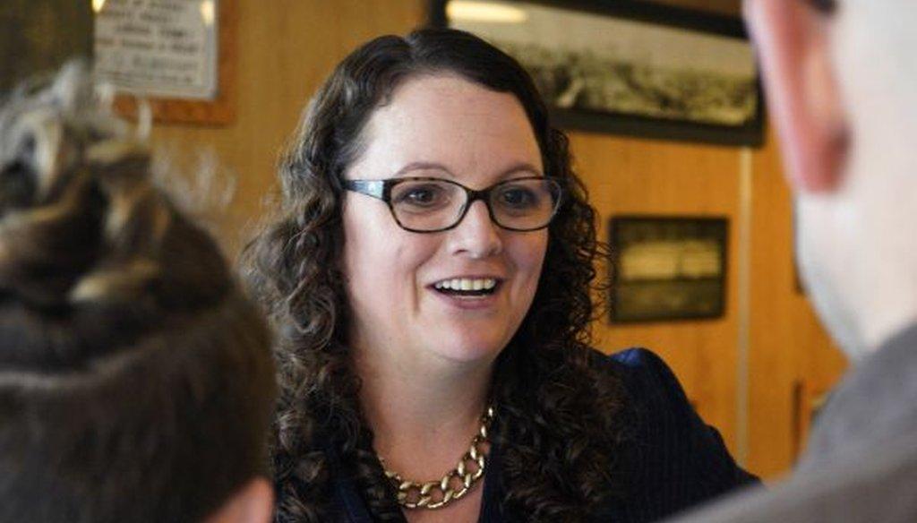 Democrat Kara Eastman is running in Nebraska's 2nd Congressional District. (AP Photo/Nati Harnik)