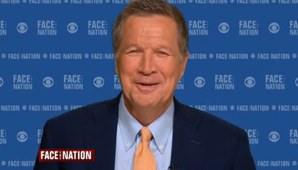 """Republican presidential candidate John Kasich appeared on CBS' """"Face the Nation"""" on Sept. 27, 2015."""