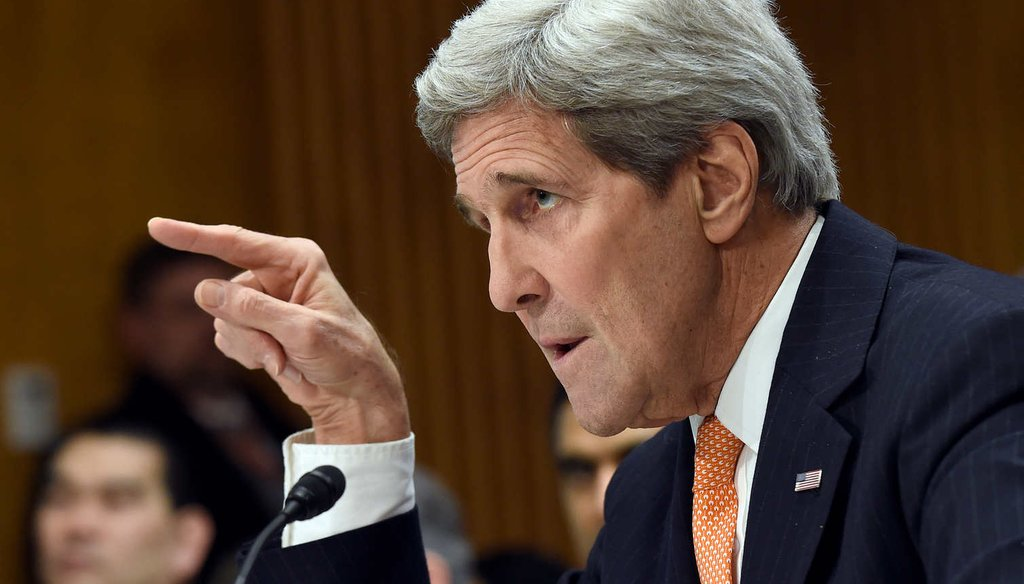 Secretary of State John Kerry on Capitol Hill Feb. 24, 2015 urges senators not to criticize nuclear negotiations with Iran before a deal emerges. (AP)