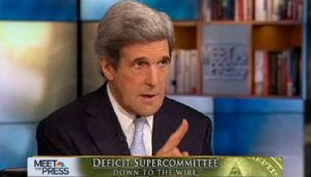 """Sen. John Kerry, D-Mass., appeared on NBC's """"Meet the Press"""" on Nov. 20, 2011, to discuss the """"supercommittee,"""" of which he is a member. We checked one of his claims."""