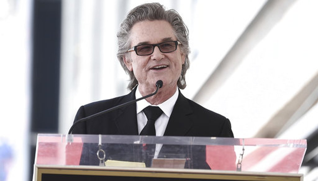 Kurt Russell attends a ceremony honoring her and Kurt Russell with stars on the Hollywood Walk of Fame on May 4, 2017, in Los Angeles. (AP)