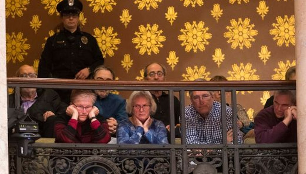 Members of the public listened to debate on lame-duck legislation at the Wisconsin Capitol. (Mark Hoffman/Milwaukee Journal Sentinel)