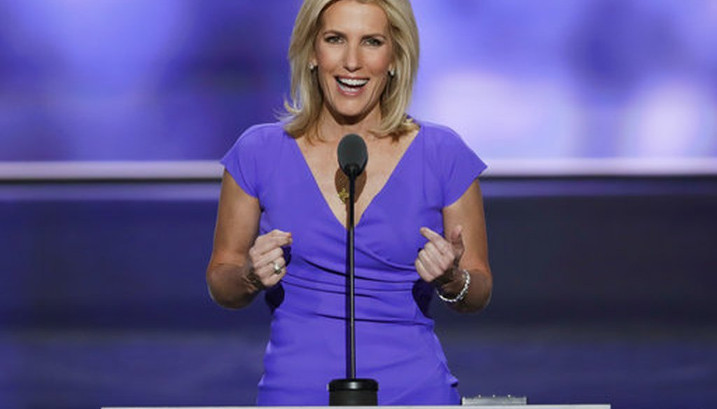 In this July 20, 2016 file photo, Conservative political commentator Laura Ingraham speaks during the third day of the Republican National Convention in Cleveland. (AP)