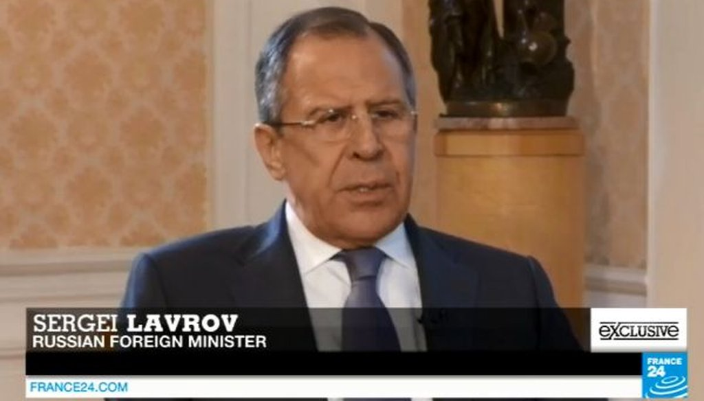 Russian Foreign Minister Sergey Lavrov was interviewed recently by France 24.