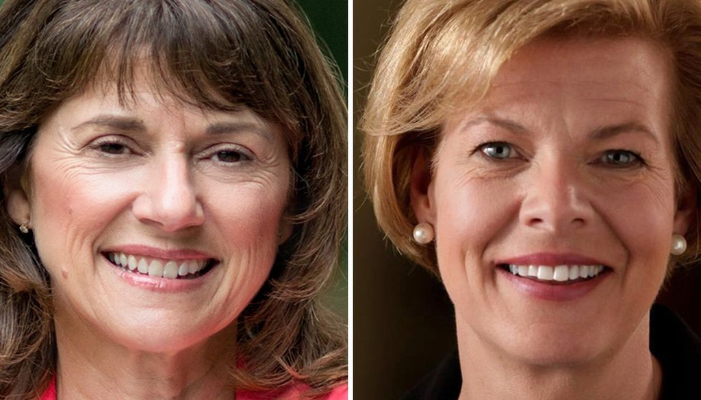 Republican Leah Vukmir (left) is challenging U.S. Sen. Tammy Baldwin, D-Wis., in the Nov. 6, 2018 eleciton.