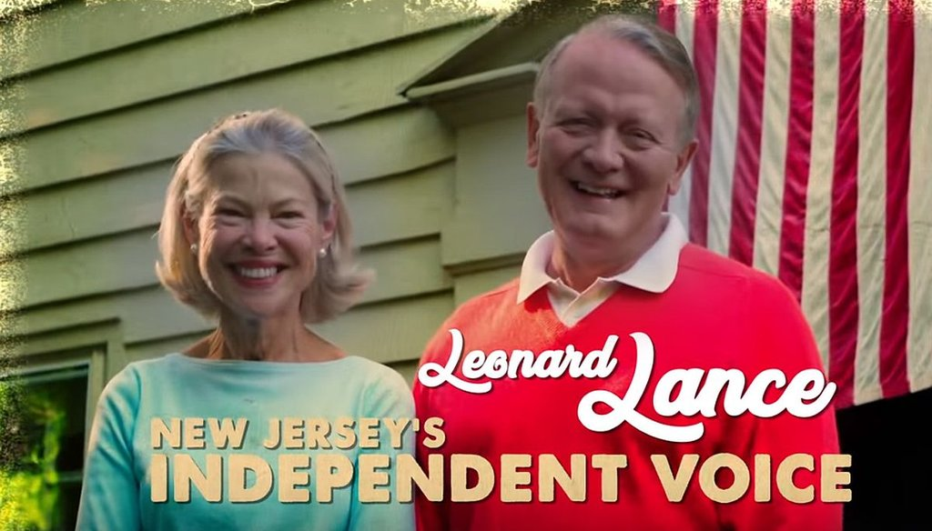 The Congressional Leadership Fund has an ad that says U.S. Rep. Leonard Lance is considered one of the most bipartisan members of Congress.