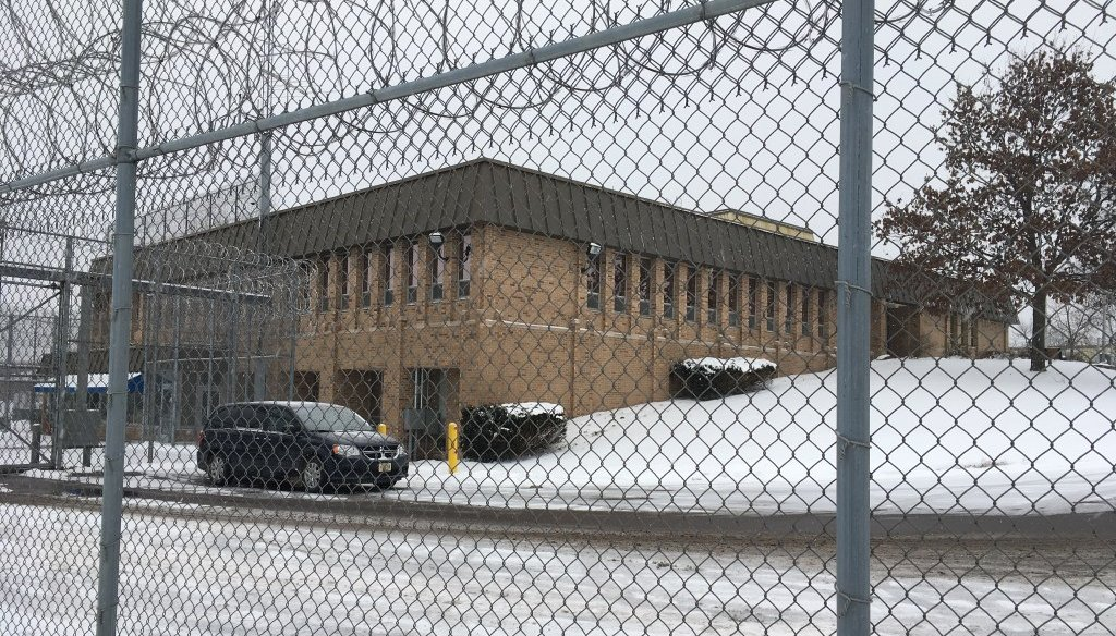 This is the admissions building at Lincoln Hills School, Wisconsin's youth prison for males. Lincoln Hills is under a criminal investigation. (Patrick Marley/Milwaukee Journal Sentinel)