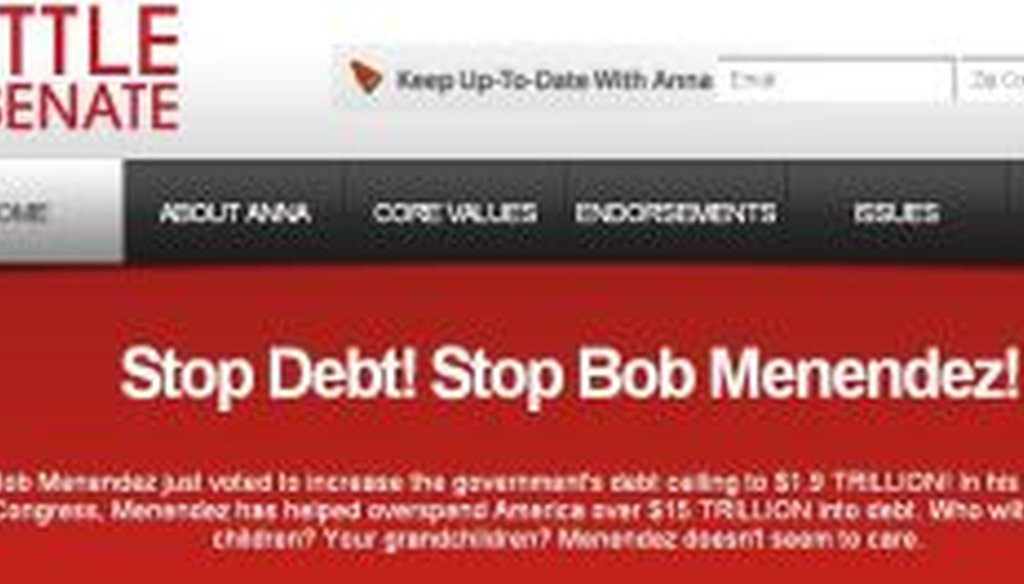 This message has been displayed on Anna Little's campaign website.