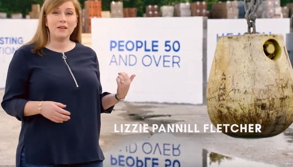 Lizzie Pannill Fletcher has an ad saying her opponent voted to allow large insurance premium hikes on older people.