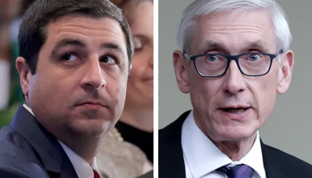 Attorney General Josh Kaul (left) and Gov. Tony Evers.