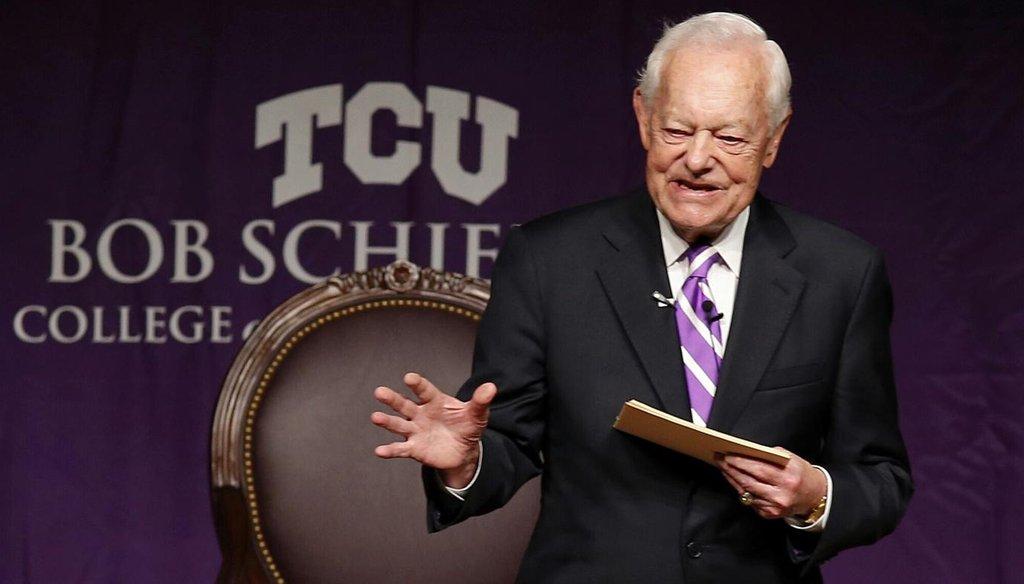 CBS newsman Bob Schieffer announced Wednesday he will retire this summer. (Ron T. Ennis/Fort Worth Star-Telegram)