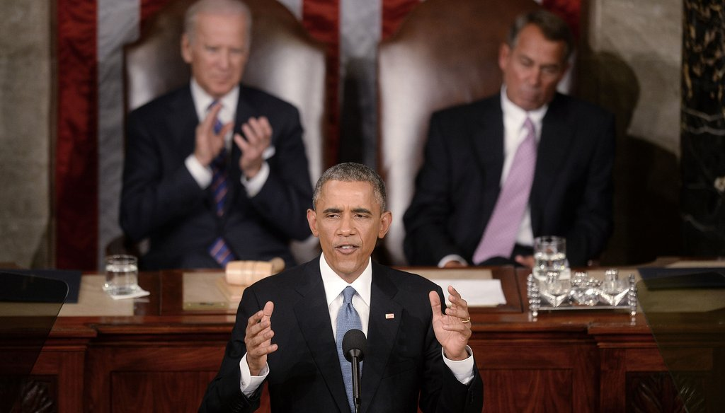 President Barack Obama delivers the State of the Union address on Jan. 20, 2015, in the House Chamber of the U.S. Capitol in Washington, D.C.